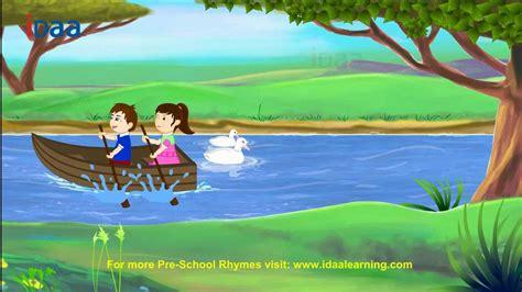row the boat crocodile row row row your boat idaa preschool kids rhymes hd
