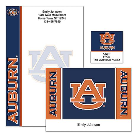 Bradford College Letterhead Auburn Tigers Collectibles Jewelry And Posters Carosta