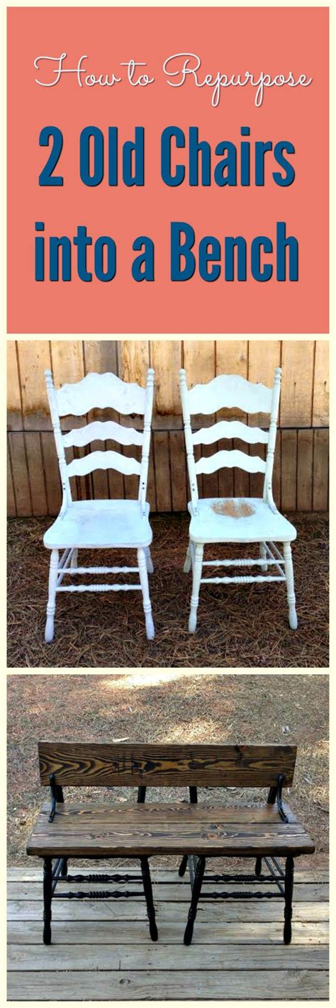chairs into bench 78 ideas about old chairs on pinterest chair bench antique decor and rustic painting