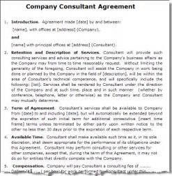sle consultant agreement template consultancy services agreement sle