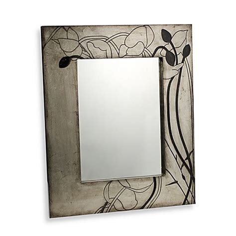 floral pattern wall mirror decorative floral design wall mirror bed bath beyond