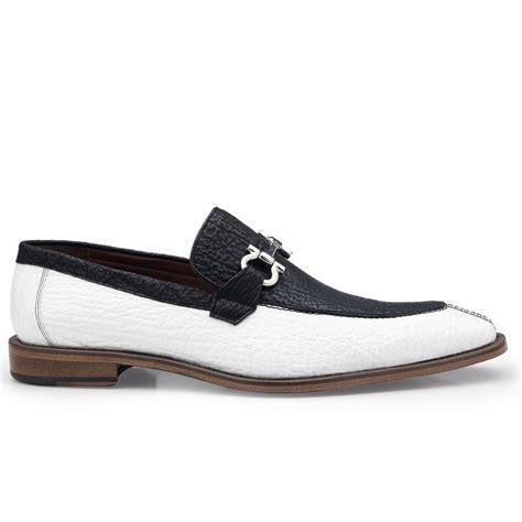 black white loafers belvedere alfio shark bit loafers black white