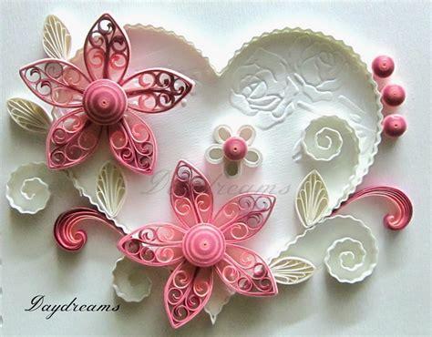 tutorial quilling heart quilled valentine with royal flowers daydreams