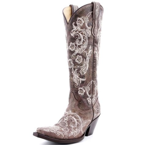 corral lace stitch cowboy boots need boot scooten