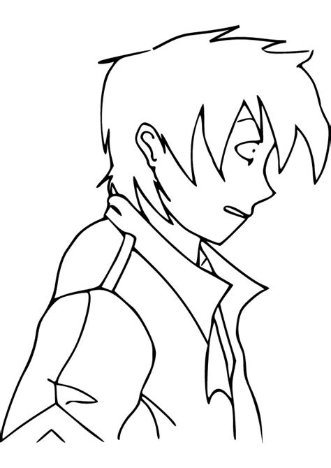 Anime Boy Drawing Picture Anime Boy Coloring Pages