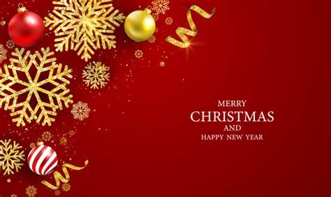 merry christmas  happy  year greeting card vector premium