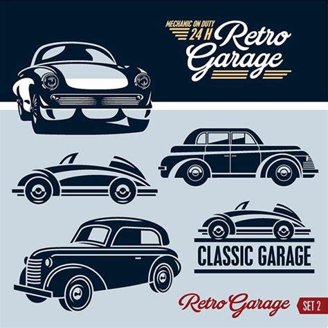 garage designer free retro garage logos creative design free vector in