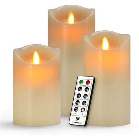 best unscented candles flameless unscented candles with timer remote set of 3