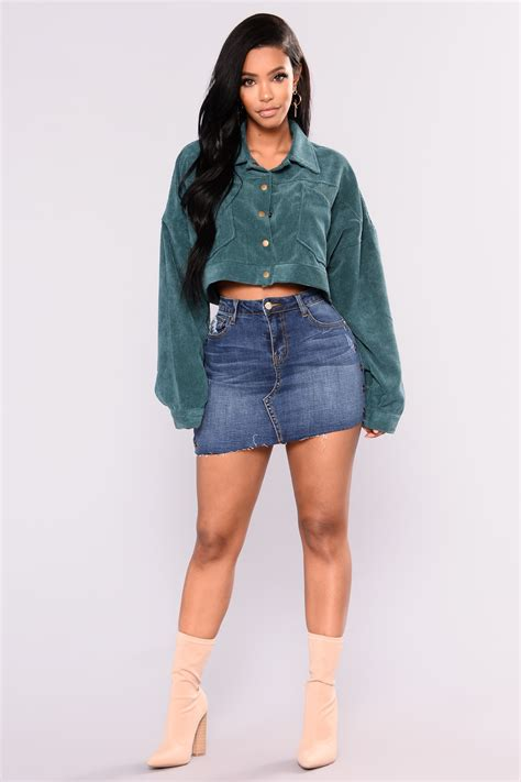 Cropped Jackets On Sale At Delias by Analia Cropped Jacket Green