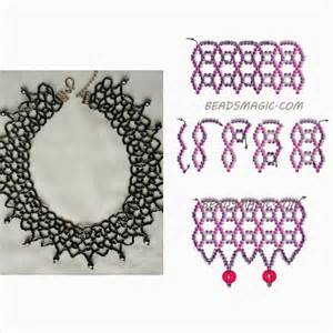 Necklaces and free pattern if you need more visit beadsmagic