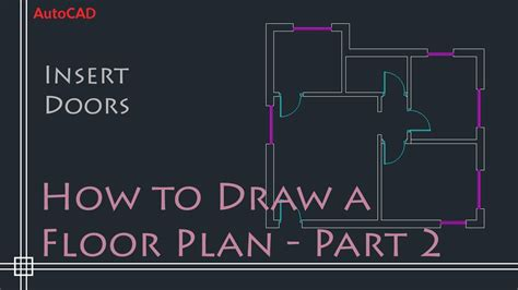 autocad  basics tutorial  draw  simple floor plan