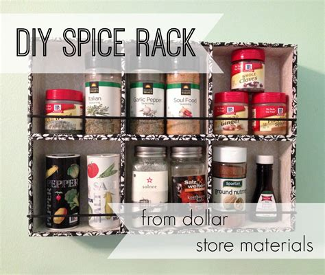 diy spice rack home depot make a diy spice rack with dollar general 187 dollar store crafts