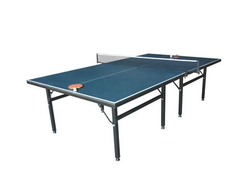 Folding Table Tennis Table Movable Indoor Table Tennis Table Single Folding Blue Color Easy Install For Recreation
