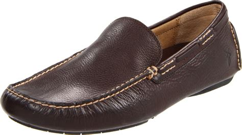 frye s loafers frye mens west driver loafer in brown for brown