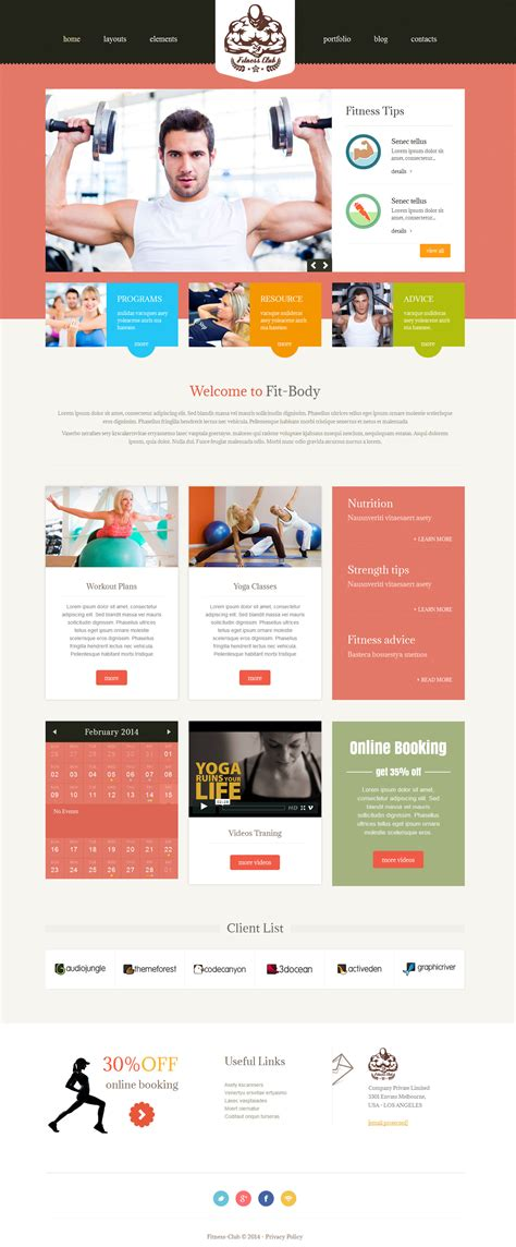 bootstrap themes gym fitness club bootstrap responsive theme by owltemplates