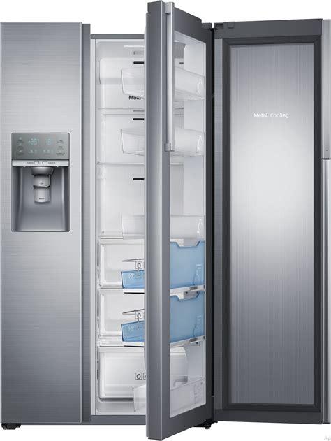 samsung cabinet depth door refrigerator samsung rh22h9010sr 21 5 cu ft counter depth side by