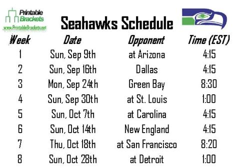 2015 seahawks printable schedule google search 2015 2016 chicago bears schedule printable calendar