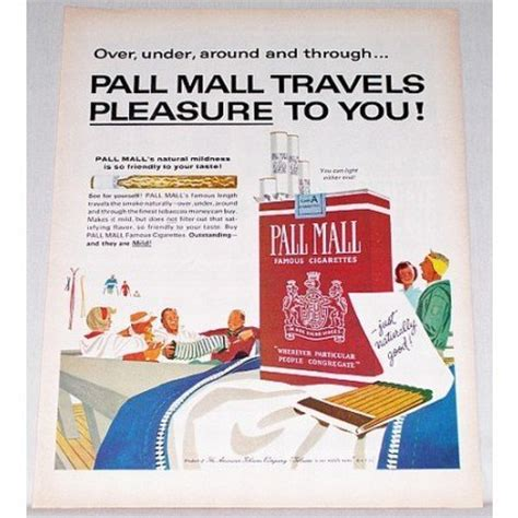 pall mall colors 1963 pall mall cigarettes color print ad travels pleasure