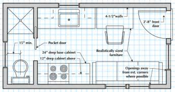 Draw House Floor Plan How To Draw A Tiny House Floor Plan