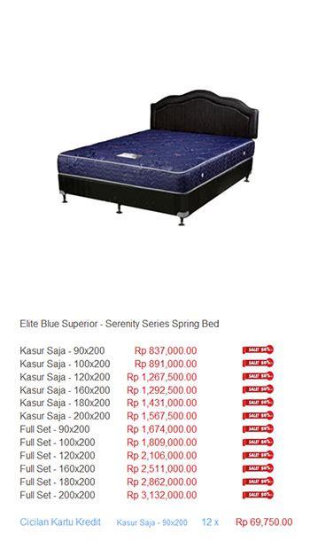 Kasur Central Gold Plush Top harga elite serenity bed harga bed