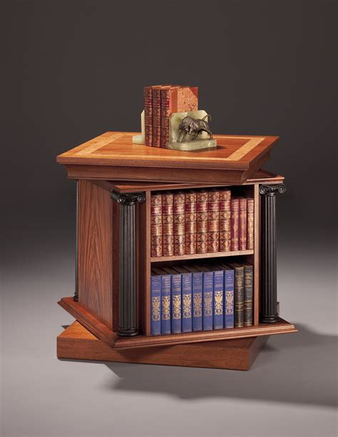 bookcase side table end table with revolving bookcase finewoodworking