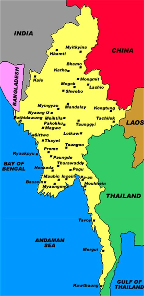 political map of myanmar justice in burma political