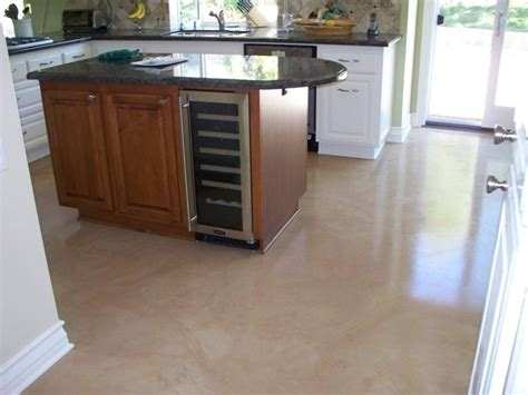concrete kitchen floor on concrete floors