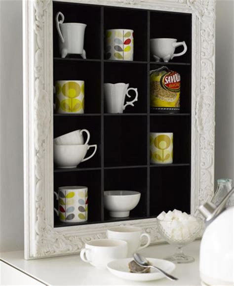 Mug Shelf Kitchen by Re Use Cd Shelves As Kitchen Shelving For Mugs And