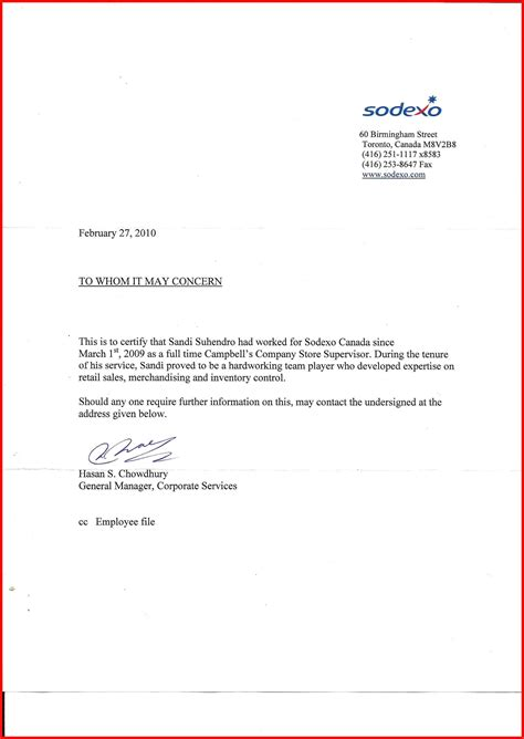 Employment Letter Content new verification of employment letter how to format a