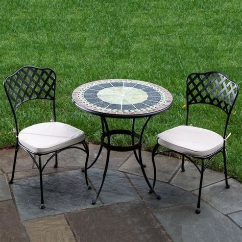 marble patio furniture 30 quot ponte marble mosaic bistro set by alfresco home