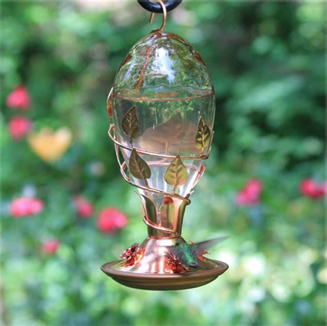 avant garden looking glass hummingbird feeder decorative
