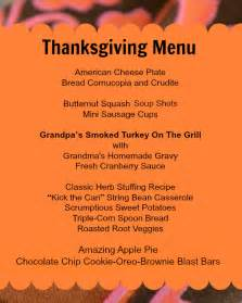 thanksgiving menue the ultimate thanksgiving menu