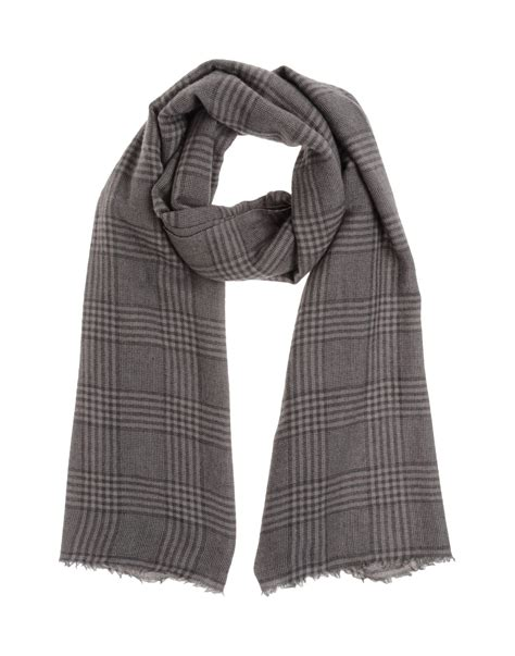 brunello cucinelli oblong scarf in gray for grey lyst
