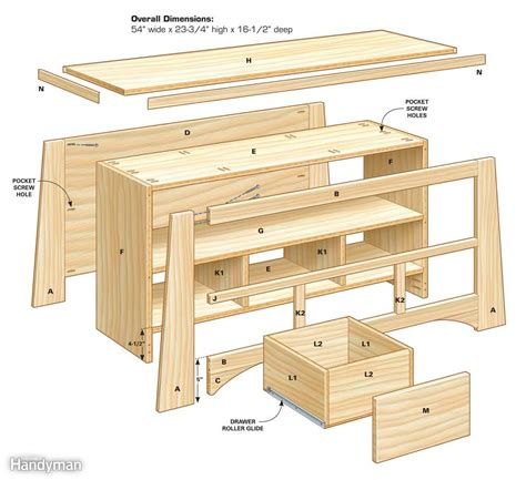 family woodworking diy tv stand the family handyman