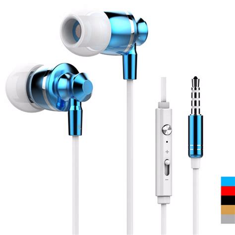 Headphone Gorsun Gs789 Best Quality Headphone Bass Blue high quality 3 5mm metal stereo bass earphone headphone
