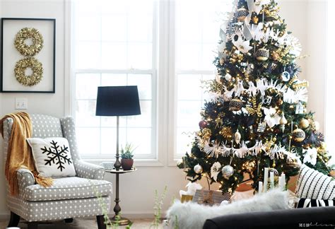 christmas tree living room bold neutral glam christmas tree in the living room this