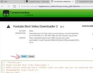 download youtube extension download youtube videos in edge browser with this