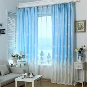 Kids curtains cartoon kids bedroom clouds blue best window curtains