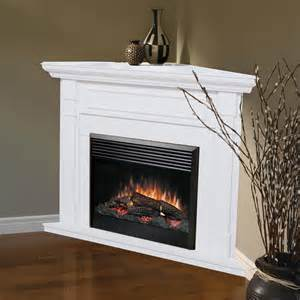 dimplex baxter corner electric fireplace white at hayneedle