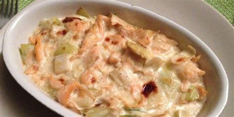 cuisine l馮鑽e pour le soir un gratin poireau et saumon pour le soir gourmande mais