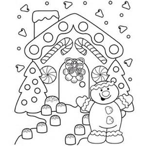 Christmas gingerbread colouring pages page 3