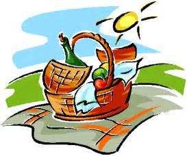 Summer Sausage Gift Basket Picnic Clip Art Pg 1