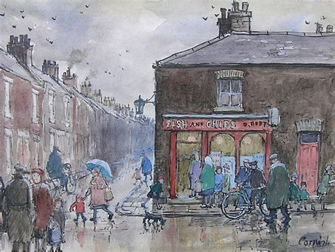 28 paintings for sale buy original archive original norman cornish 1919 2014 fish and chips for sale
