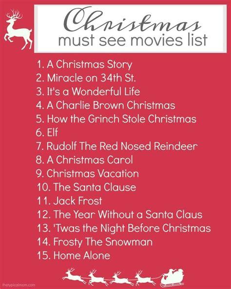 Printable Christmas Movie List | christmas movies list 183 the typical mom