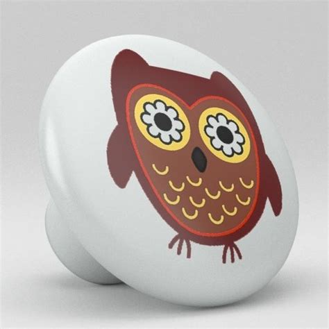 Whimsical Door Knobs by Owl Whimsical Ceramic Knobs Pulls Kitchen Drawer Cabinet