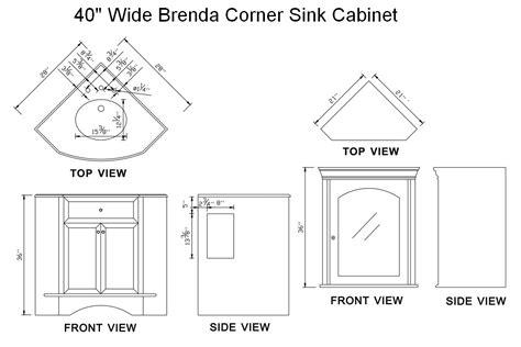 corner kitchen sink cabinet dimensions corner sink dimensions befon for