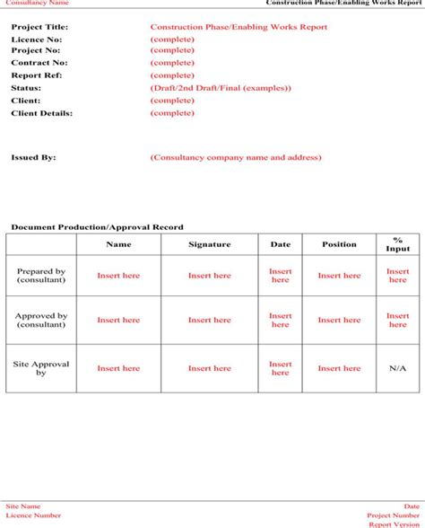 construction statement of work template contractor statement of work template for free