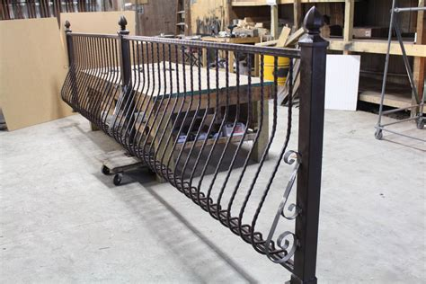 Iron Pickets For Decks Metal Deck Railing Installed Wrought Iron Balusters
