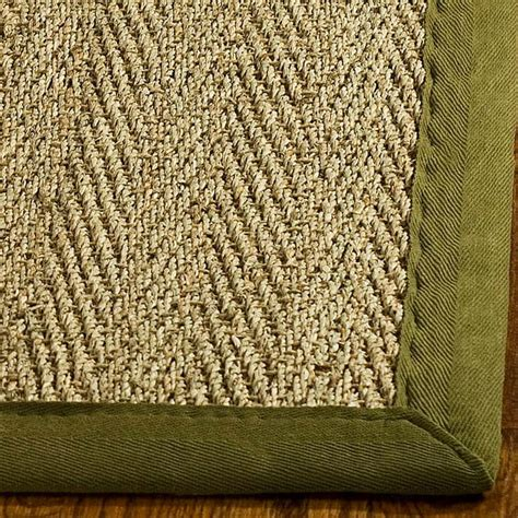 Square Sisal Rug by Safavieh Handwoven Sisal Olive Seagrass Area Rug