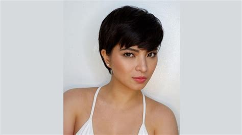 angel locsin in curly hair angel locsin s pixie hair is really bongga in every way